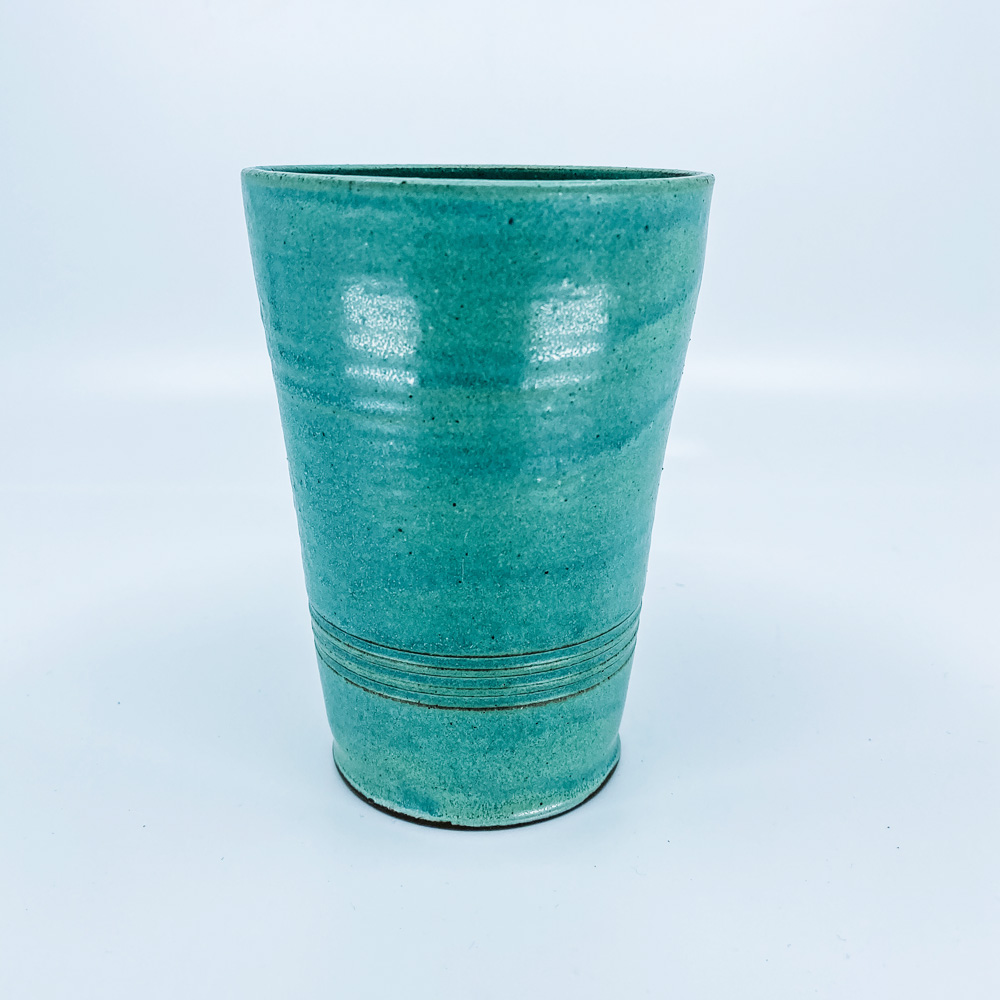 green tall cup